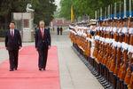 Honras militares no Grande Palácio do Povo