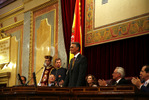 The President delivered a speech to the two Chambers of the Spanish Parliament