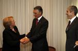 Presidente Cavaco Silva com Michelle Bachelet