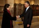 Presidente encontrou-se com Sonia Gandhi