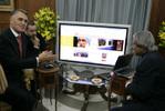 Cavaco Silva e Abdul Kalam observam sítio da Presidência