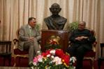 Presidente com Governador de Karnataka