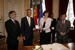Acolhimento ao Presidente em Estrasburgo