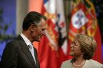 Presidentes reunidos em Santiago