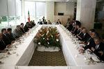 Almoço de trabalho em Santiago