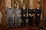 Presidente recebeu chefes militares em Belém