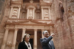 President and Mrs. Cavaco Silva in Petra