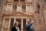 Presidente e Dra Maria Cavaco Silva em Petra
