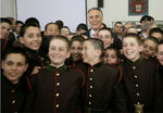 President with Colégio Militar students