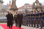 Cerimónias no Castelo de Praga