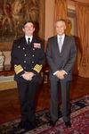 Almirante Melo Gomes recebido em Belém