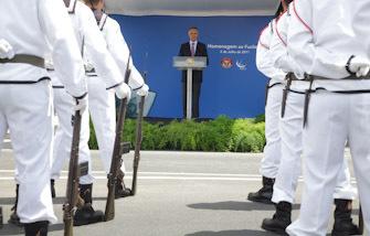 Inauguração do Monumento ao Fuzileiro