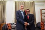 Encontro no Palácio Presidencial em Dili
