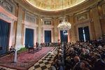 Cerimónia no Palácio da Ajuda