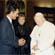 Com o Papa João Paulo II no Vaticano, 1987