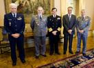 Chefes militares no Palácio de Belém para desejarem Bom Ano