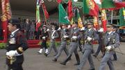 Desfile militar na despedida das Forças Armadas