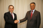 Presidente da República com Álvaro Uribe